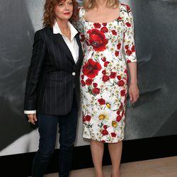 Susan Sarandon (wearing Max Mara) and Geena Davis at the 'Women in Motion' talks.