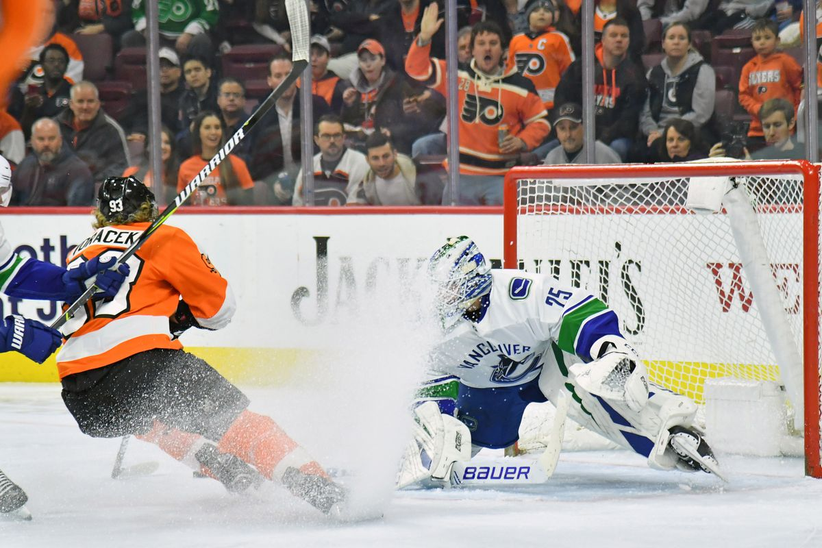 NHL: Vancouver Canucks at Philadelphia Flyers