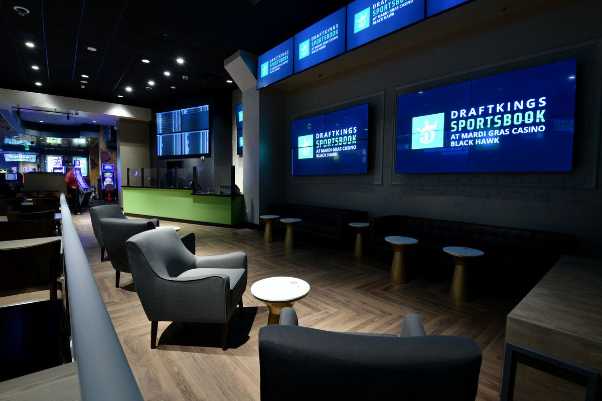 DraftKings Retail Sportsbook's VIP lounge installed at Mardi Gras Casino, Colorado on Thursday. September 24, 2020.