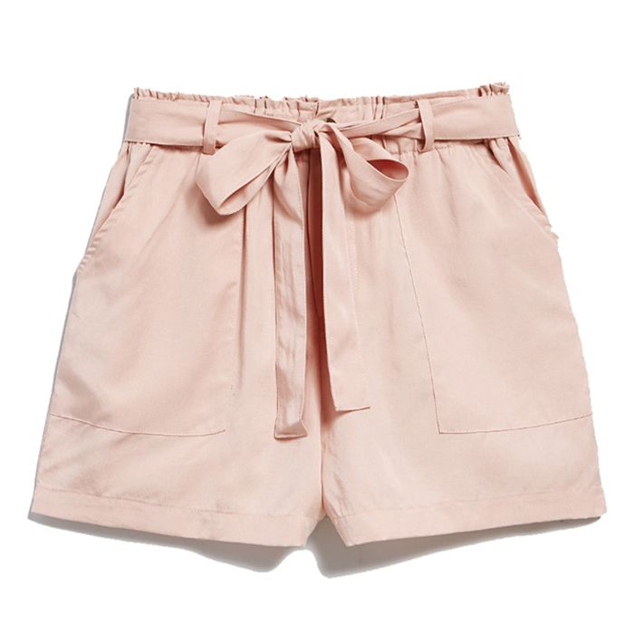 pink shorts with tie