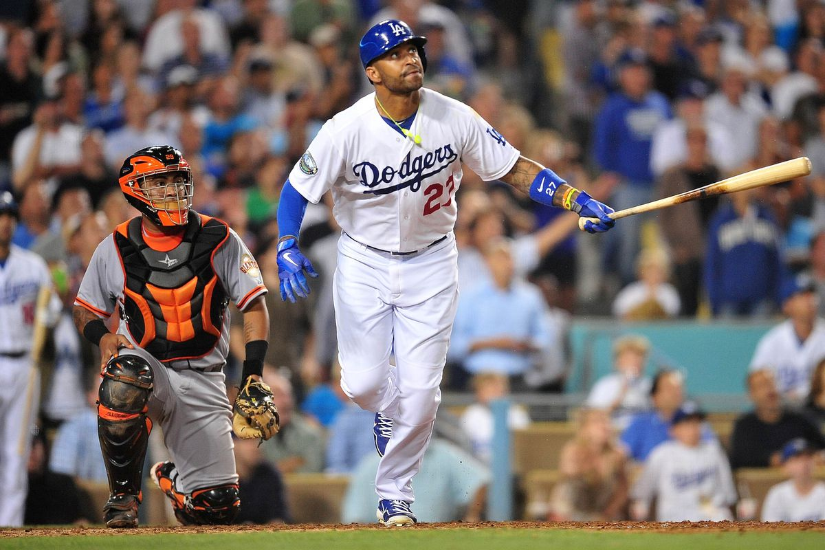This one fell a bit short for Matt Kemp and the Dodgers on Tuesday night.