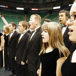 The Roy High School Chamber Choir auditions Friday for a chance to sing the national anthem during Utah Jazz games this season at EnergySolutions Arena in Salt Lake City.