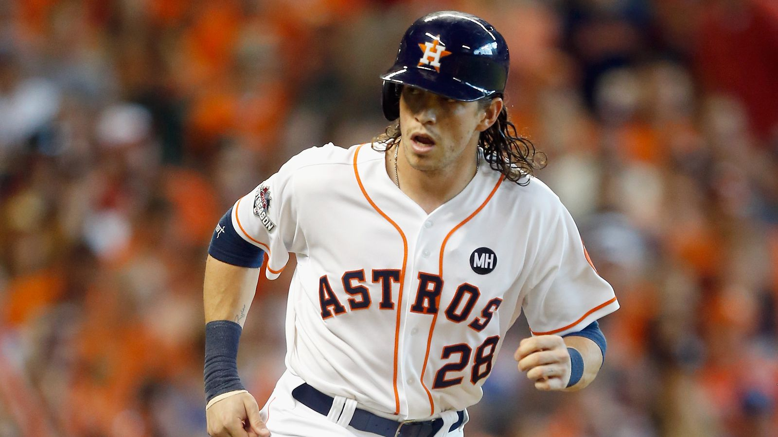 Colby Rasmus Hits Single Off Minute Maid Park Roof