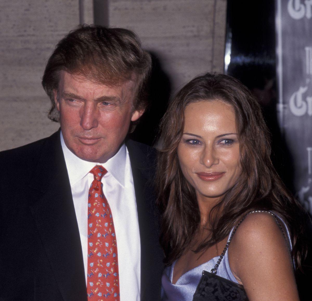 Donald and Melania Trump in 1998.