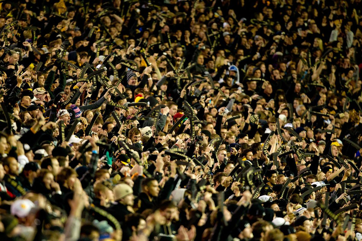 BOULDER, CO - NOVEMBER 4:  The Colorado Buffaloes wear black in support of their team against the USC Trojans at Folsom Field on November 4, 2011 in Boulder, Colorado. (Photo by Justin Edmonds/Getty Images)