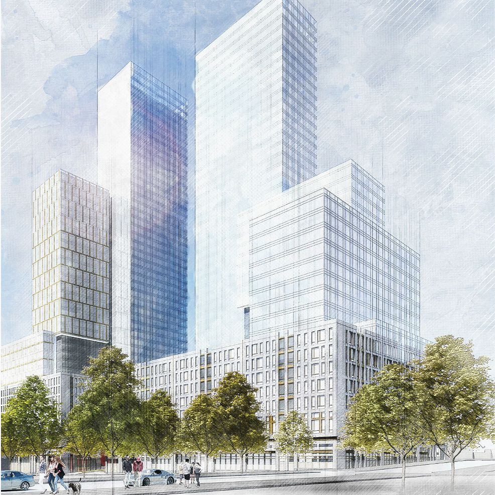 A rendering of the proposed development at 960 Franklin Ave. in Brooklyn.