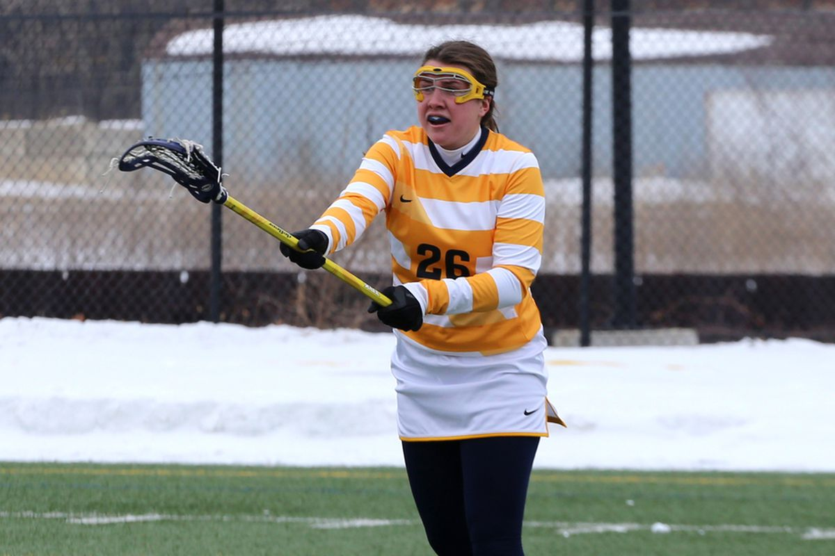 Riley Hill's stellar freshman campaign continued with a hat trick in the loss to Michigan.