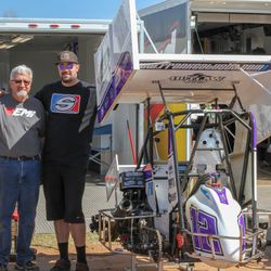Frank Galusha and his father.