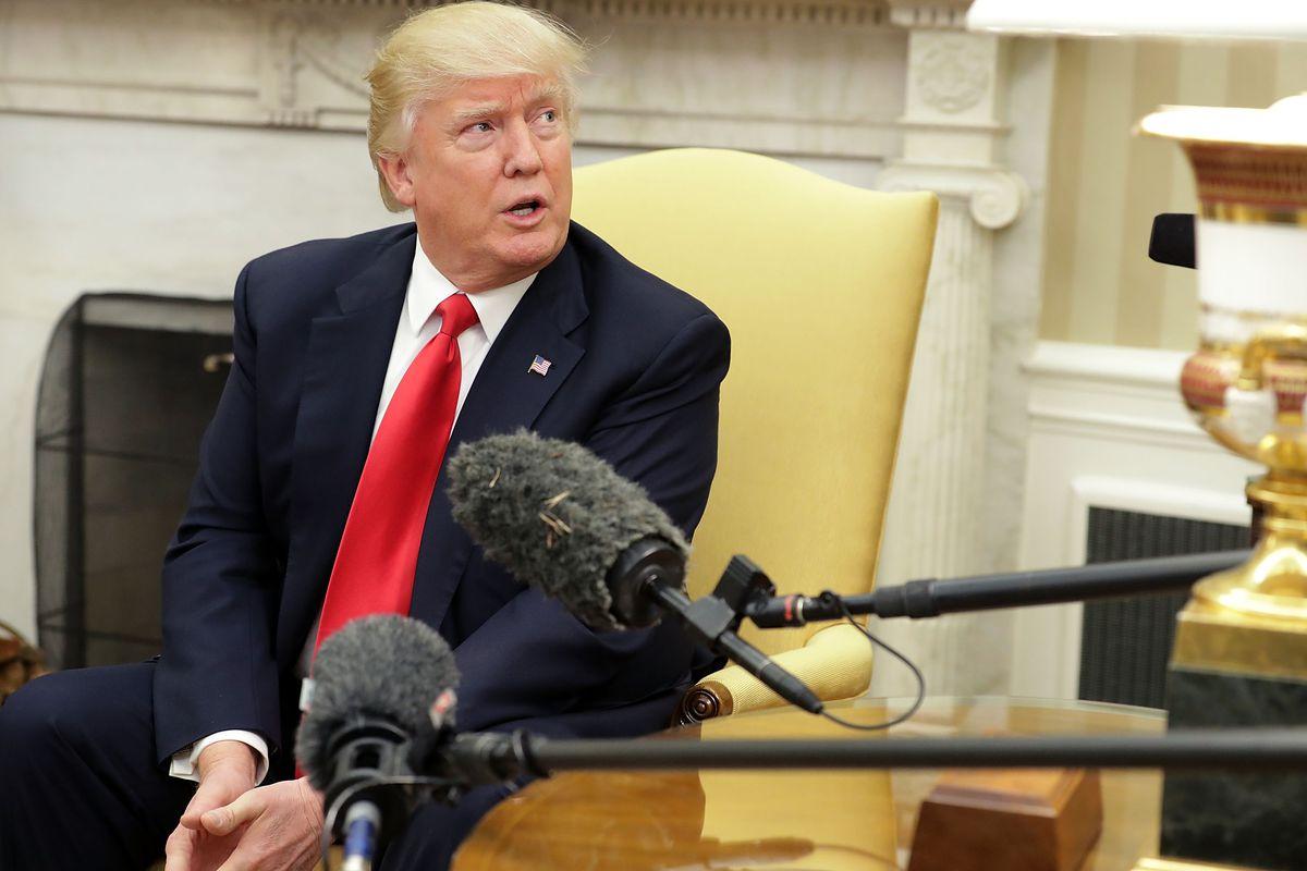 President Trump meets With Prime Minister Of Denmark Lars Lokke Rasmussen In The Oval Office