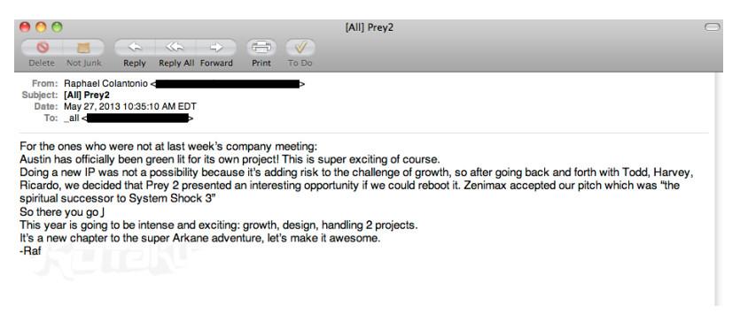arkane e-mail