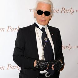 Karl Lagerfeld attends the Gordon Parks Foundation awards dinner and auction at Gotham Hall on June 1, 2011 in New York City.