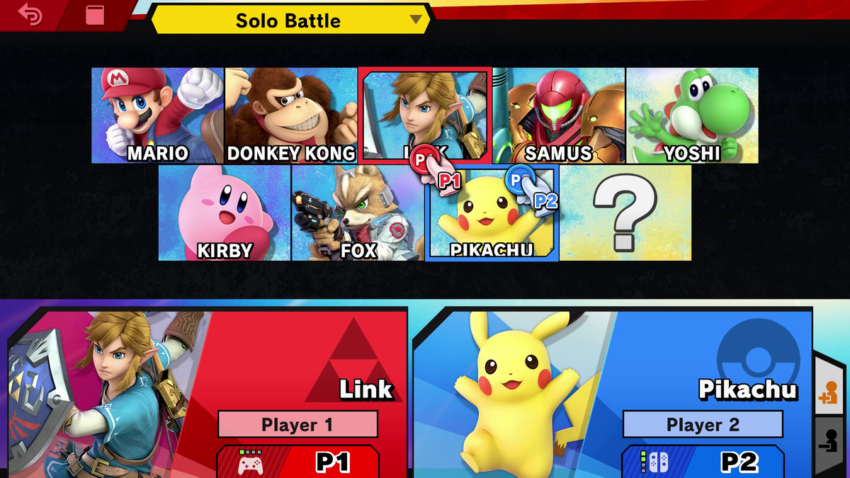 The original eight fighters in Super Smash Bros. Ultimate