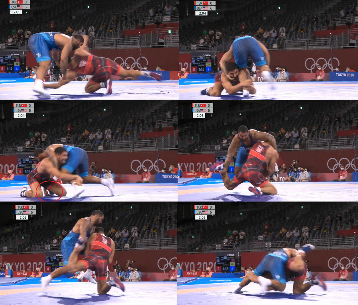 Gable Steveson ankle go behind Taha Akgul Tokyo Olympics