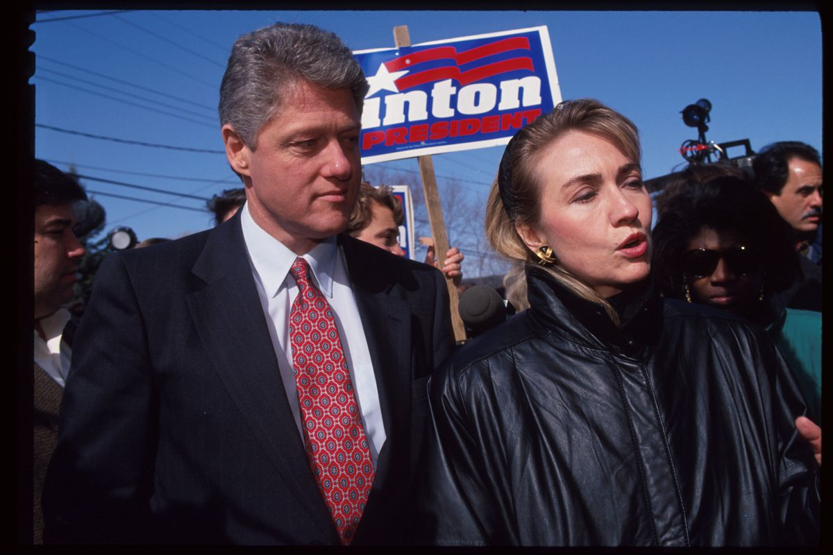 The Clintons campaign in New Hampshire in 1992.