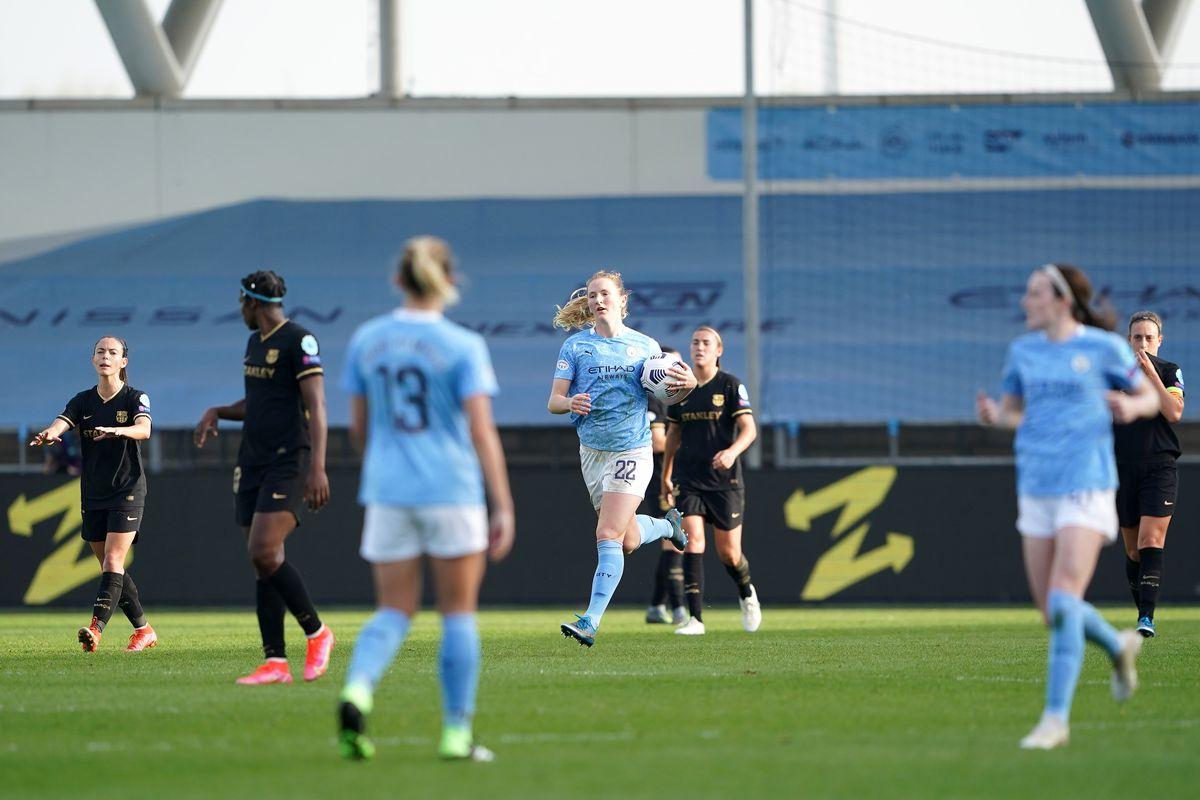 Manchester City v Barcelona - UEFA Women's Champions League - Quarter Final - Second Leg - Manchester City Academy Stadium