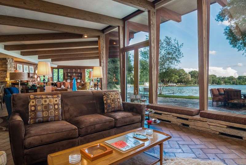 casual lakefront living room ideas midcentury lakefront house beautifully restored asks 475k curbed