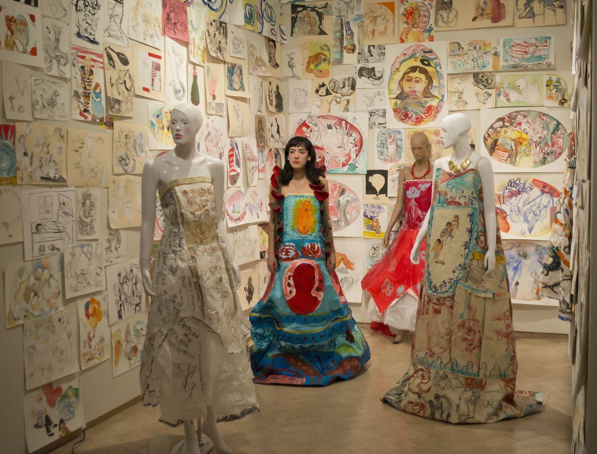 Maria de Los Angeles poses as part of an exhibition at El Museo del Barrio in New York City in 2017.