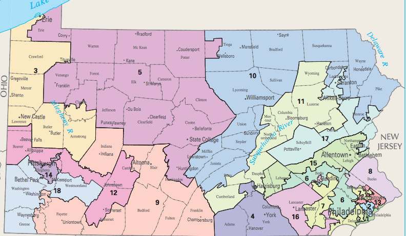 Right To Work States Map 2016.Pennsylvania S New Congressional District Map Will Be A Huge Help