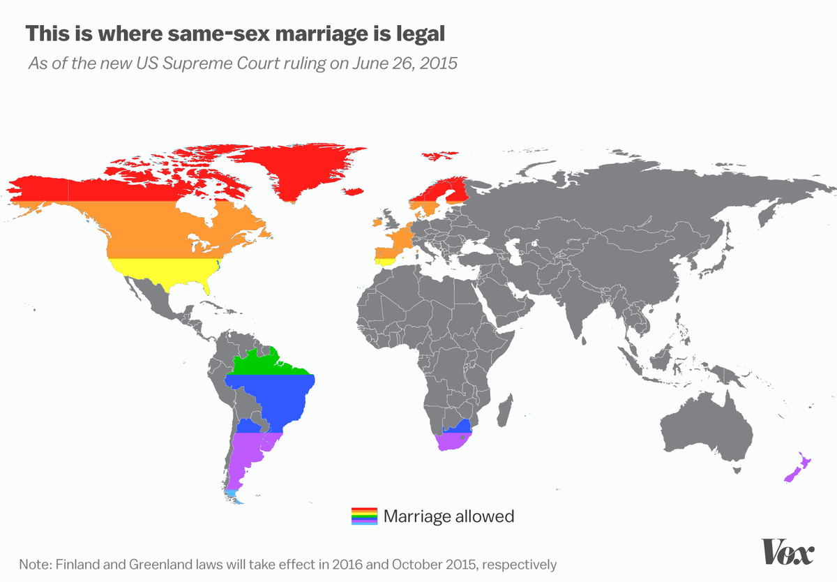 Countries allow gay marriage, nude female triplets