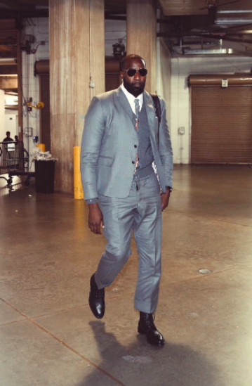 86ca77f123c3 So what you re telling me is that LeBron got a suit he liked (rightfully  so) and then made everyone else wear it too  Except they don t look that  great in ...