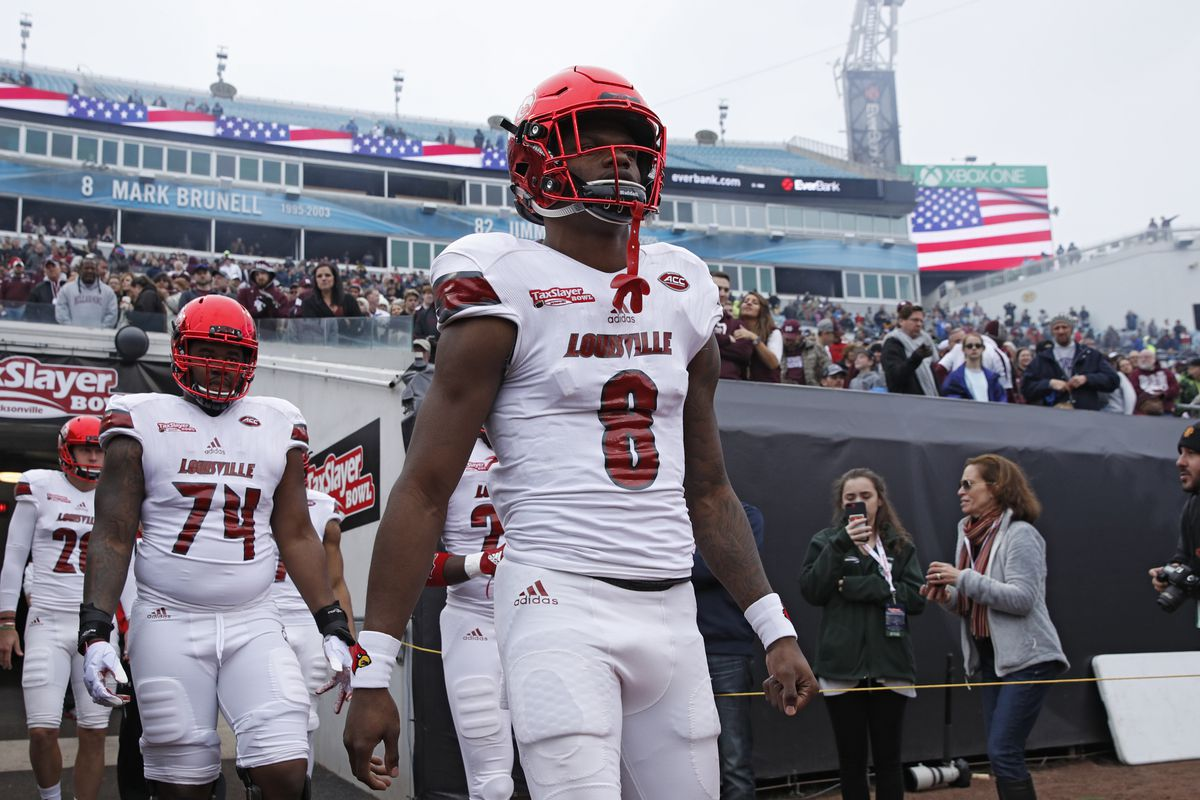 best service 1dbd6 7aa06 2018 NFL Draft: Lamar Jackson selected 32nd overall by ...