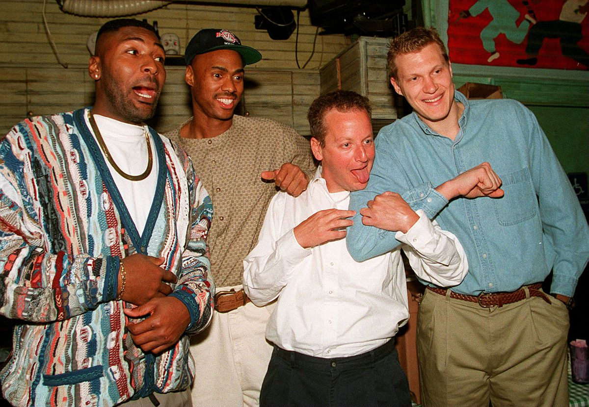 Daniel Stern With Boston Celtics Players At The House Of Blues