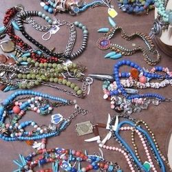 Necklaces, varying prices.