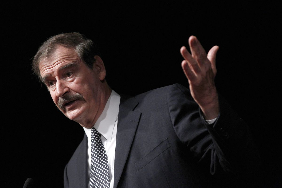In this Oct. 18, 2018, file photo, former Mexican President Mexico Vicente Fox speaks at the CATO Institute in Washington. Fox will speak at the University of Utah on Tuesday, Feb. 12, 2019, as a guest of the Tanner Humanities Center.