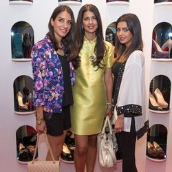 Zahara Sandburg (middle) let her jewel-hued dress shine.