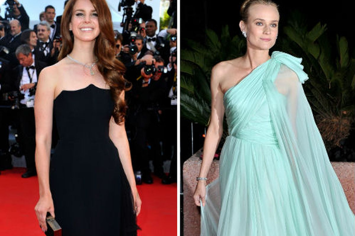 Lana Del Rey and Diane Kruger at Cannes, via Getty