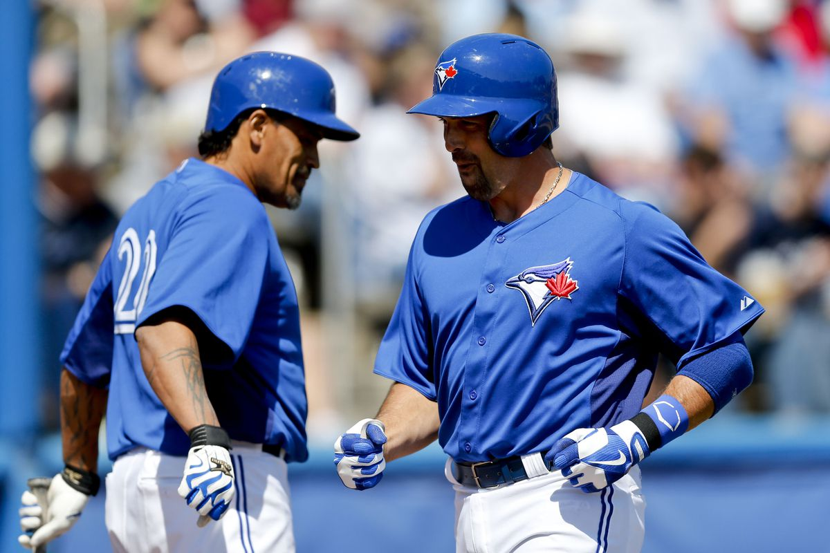 No pictures from today. This is Henry Blanco and Mark DeRosa after Mark's home run yesterday.
