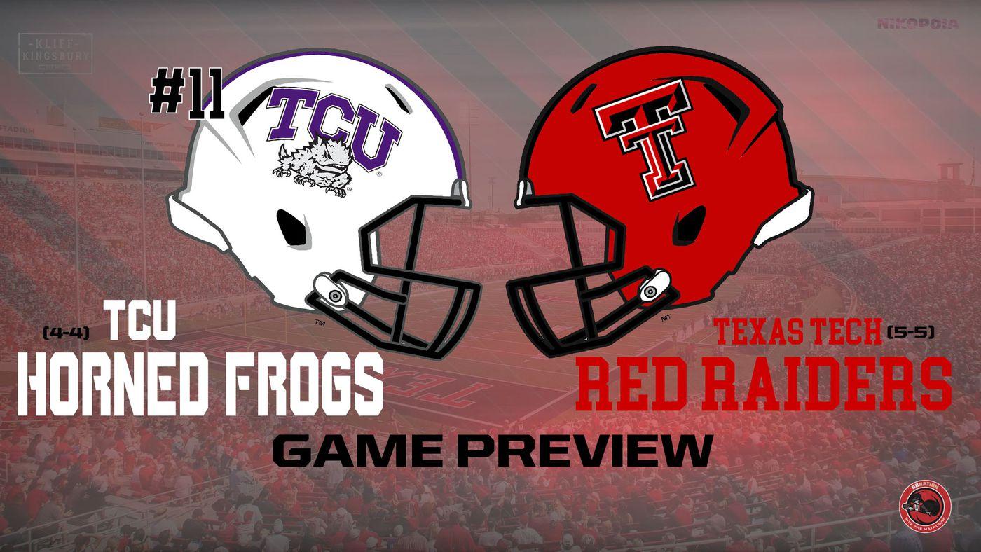 Game Preview Tcu Vs Texas Tech Week 12 Viva The Matadors