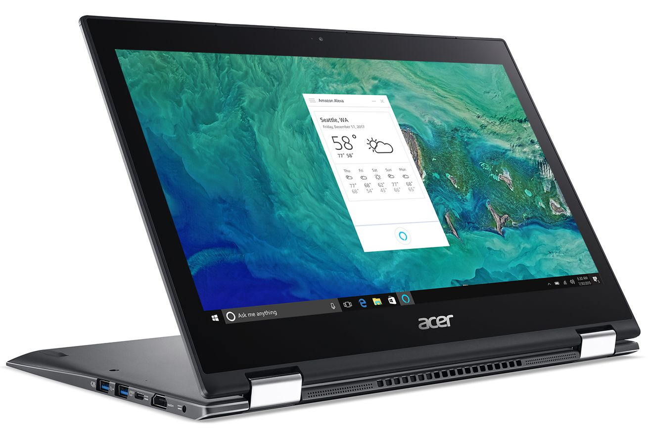 amazon s alexa will be preloaded on acer s new laptops