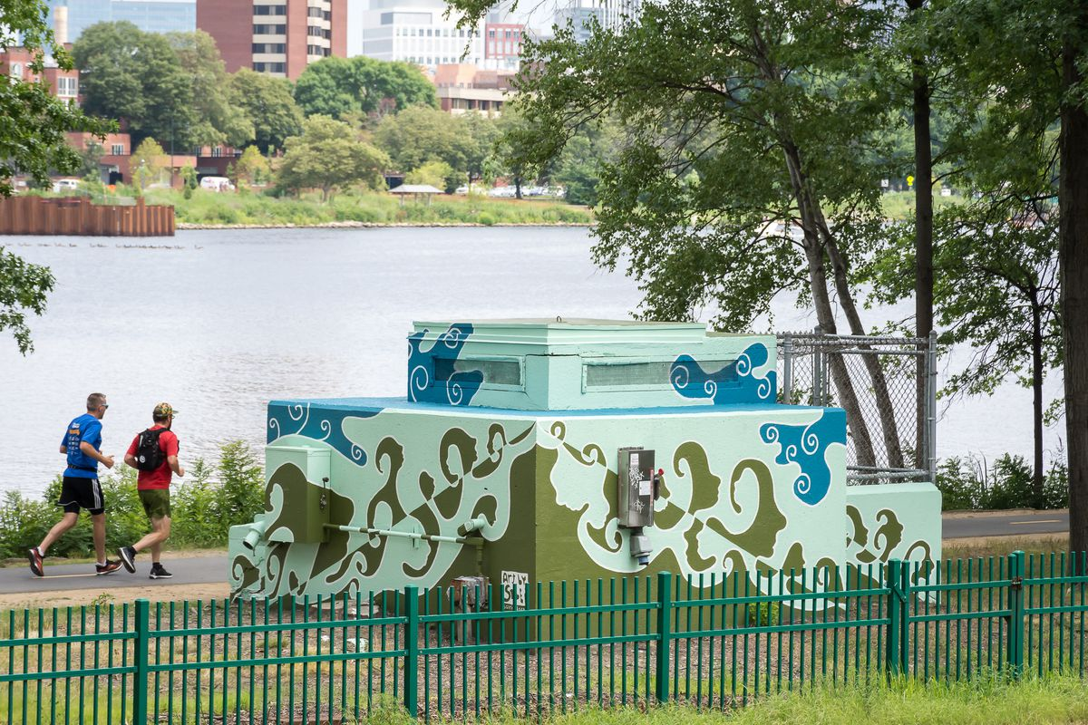 A mural on the Esplanade in Boston by Solei.