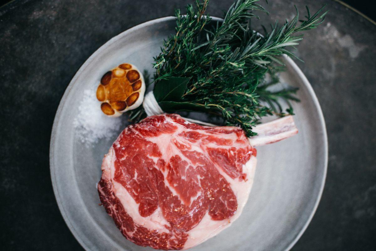 Uncooked wagyu steak