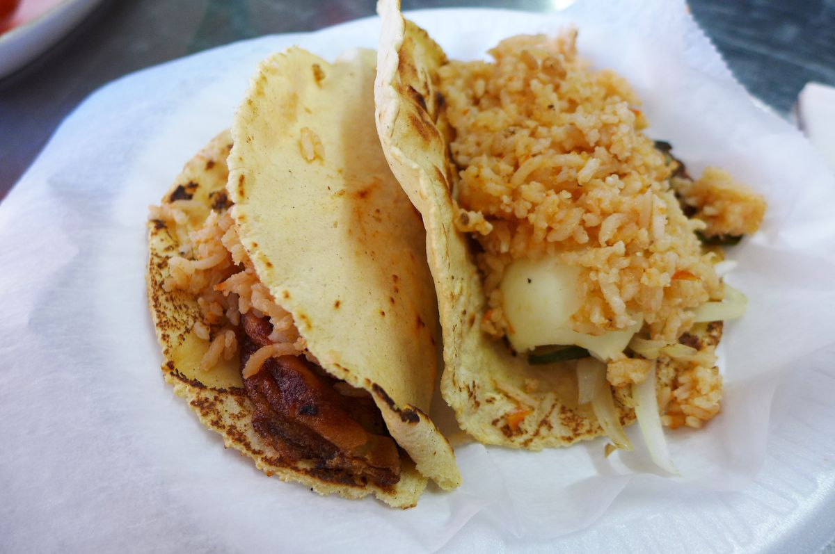 Tacos placeros are one of Santa Ana's Pueblan specialties.