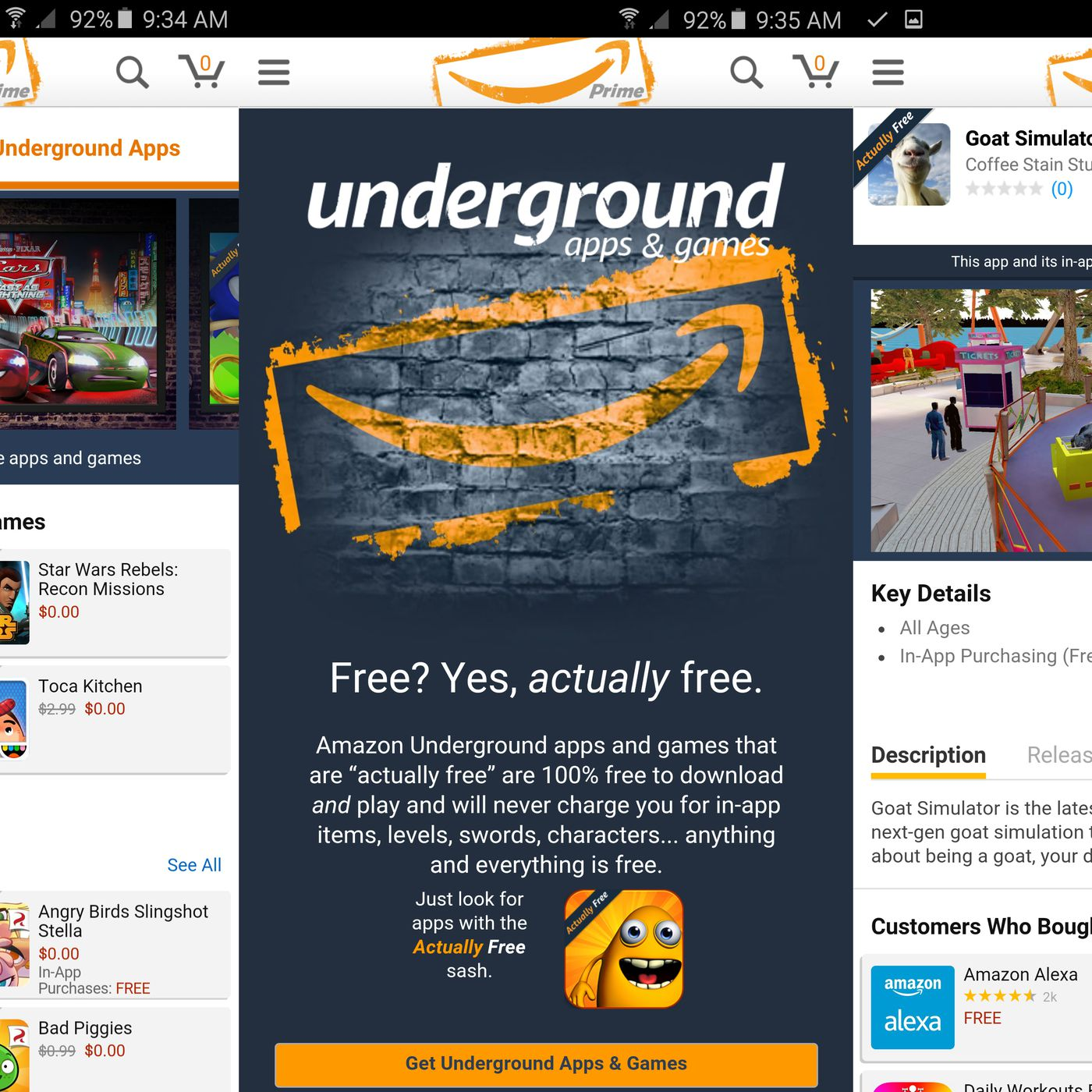 Amazon is shutting down Underground, its free Android app