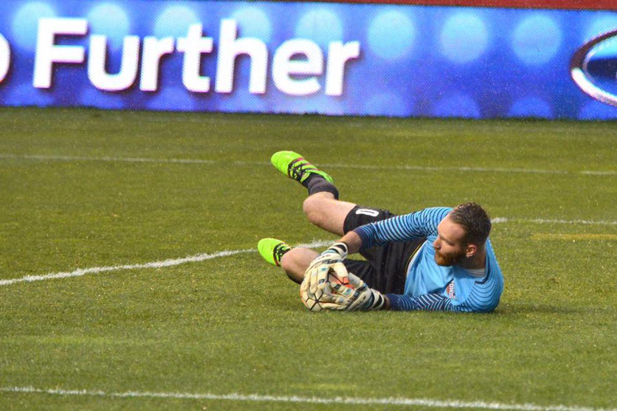 Dynamo loanee Calle Brown earned a clean sheet in his Toros' debut.