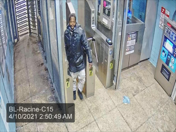Photo of man wanted in connection with a robbery at the Racine Avenue stop on the CTA Blue Line.