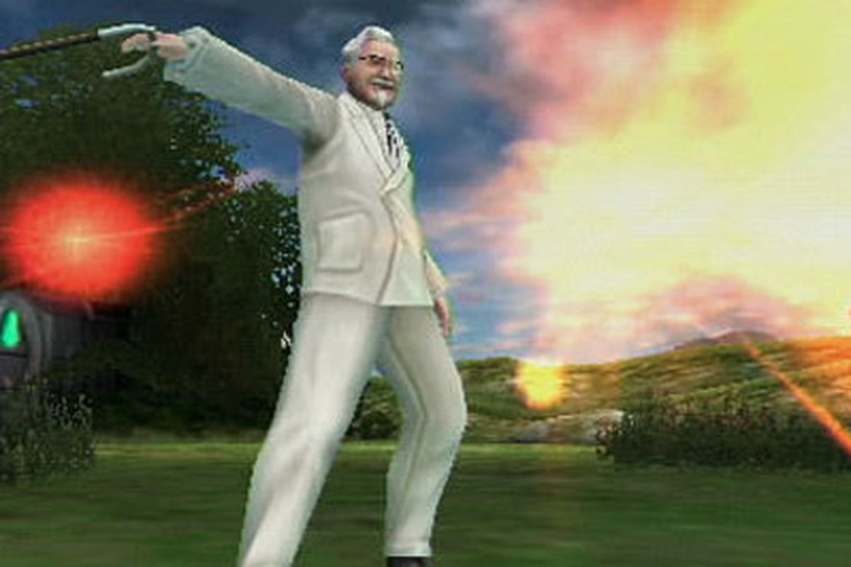 Colonel Sanders in an upcoming video game.