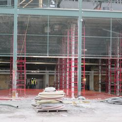 View of the exposed part of the third base concourse, visible from Clark