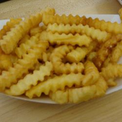 Crinkle cut fries: they may start out frozen but they end up tasting great.<br /><br />Found at: Shake Shack, others
