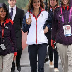 Looking sporty on September 2nd, 2012 at London's Paralympic Games.