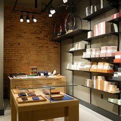 The small room in the back houses Shinola's bestselling notebooks.