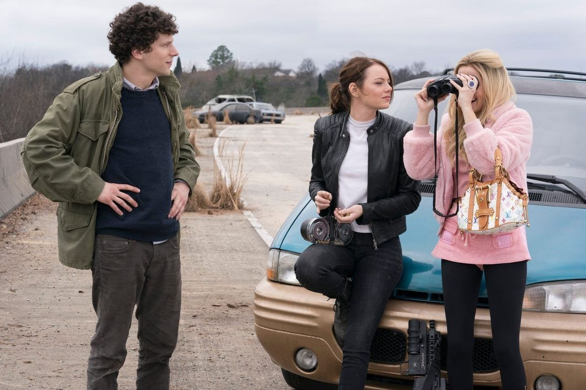 Columbus, Wichita, and Madison in Zombieland: Double Tap.