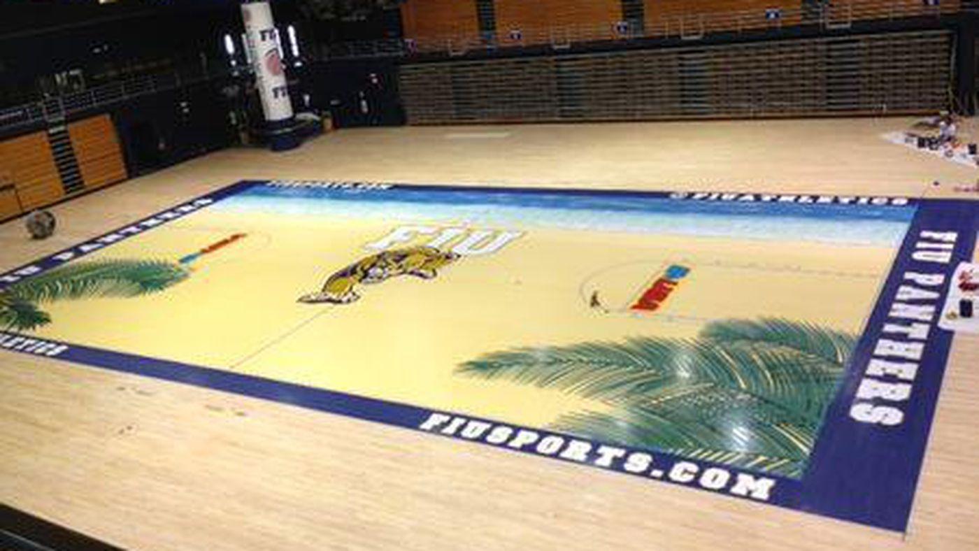Fiu S Beach Towel Basketball Court Is Real Sbnation Com