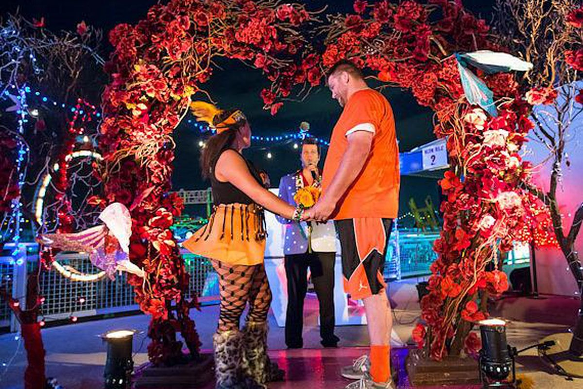 A wedding at the Electric Daisy Carnival