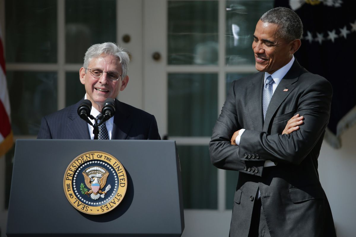 Judge Merrick Garland speaks after being introduced by US President Barack Obama as his nominee to the Supreme Court in the Rose Garden at the White House, March 16, 2016, in Washington, DC.