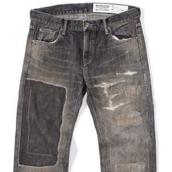"""For the manly fashion plate: Slash Salvage Narrow Denim, <a href=""""http://store.unionlosangeles.com/collections/bottoms-1/products/slash-savage-narrow-denim"""">$706</a> at Union"""