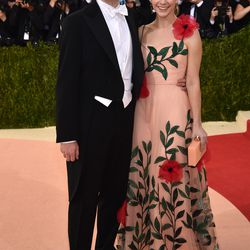 Charles Shaffer and Elizabeth Cordry, who is wearing a Gucci dress.